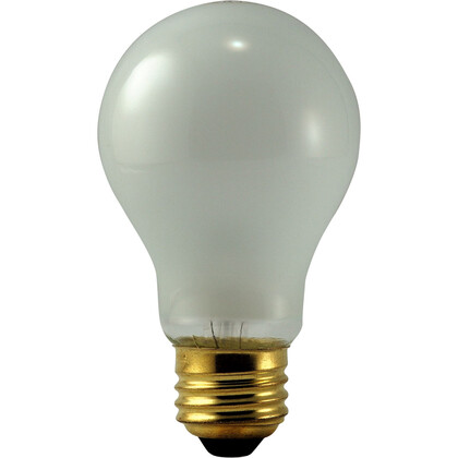 Incandescent Bulb, Rough Service, A19, 50W, 130V, Frosted *** Discontinued ***