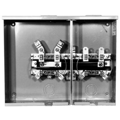 Meter Base, 2 Position, 100A, Socket, 300VAC, Horizontal, Ringless