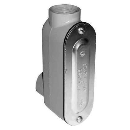 """Conduit Body, Type: LB, Size: 3/4"""", Cover/Gasket, Aluminum"""