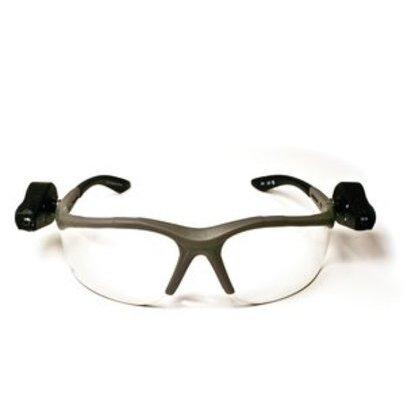Protective Eyewear, Dual LED Lights, Clear Lens