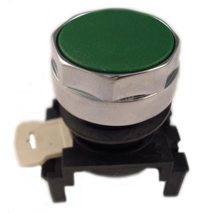Flush Pushbutton, Green, E22