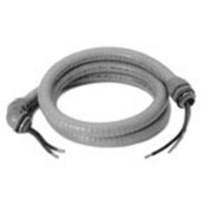 "Liquidtight Whip Assembly, 1/2"", 10 AWG, 6' Long"
