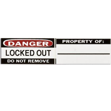 B826 Lockout Lbls .75 In Hx1.25 In W 6 Sets/pk