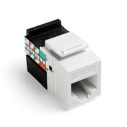 Cat 5e QuickPort Connector, White