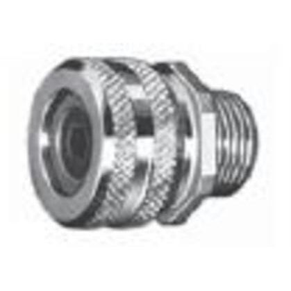 """Liquidtight Strain Relief Connector, 1"""", Straight, Aluminum"""