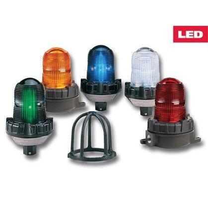 Flashing LED Hazardous Location Warning Light, 120/240VAC, Red