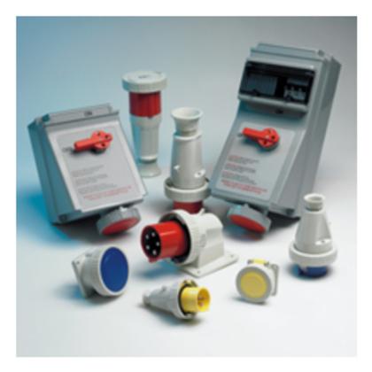 60A 3W4P 3/600V IEC309 PIN/SLVE MECH INT