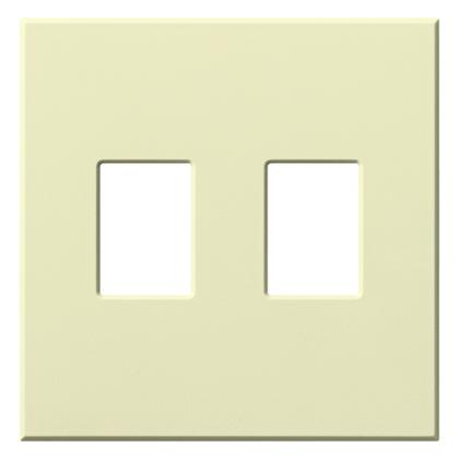 Wallplate, 2-Gang, Dimmer/Switch, Almond