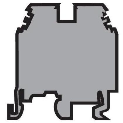 Terminal Block, Feed Through, Type: M 2,5/5, Gray