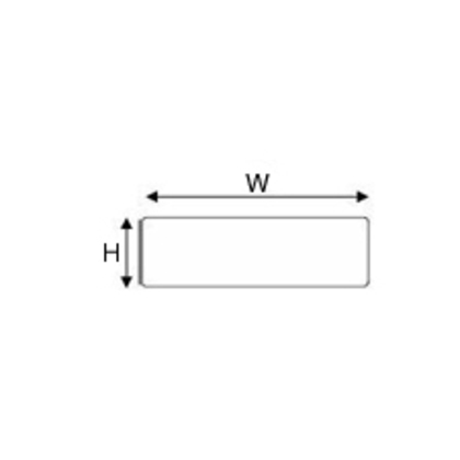 "Raised PanelLabel, White, 0.59"" H x 1.77"" W"