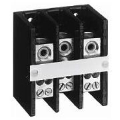 Distribution Block, 150A, 600V AC/DC, 3P, Copper, 3 In/3 Out