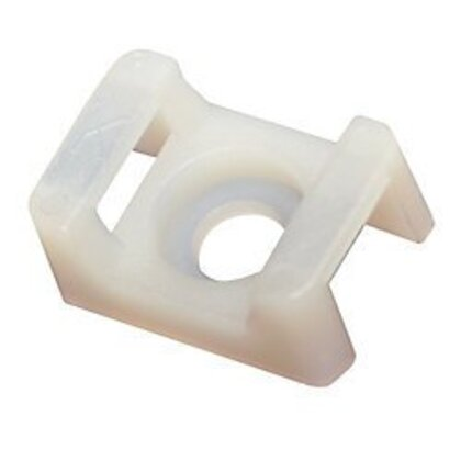 "Low Profile Cable Tie Holder, for 4"" - 21"" Ties, # 10 Screw Size"