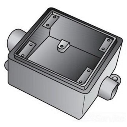 FDC 2 GANG CAST BOX 3/4 IN HUB
