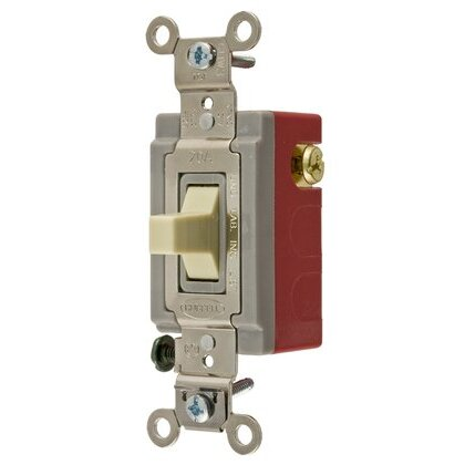 Industrial Switch, Maintained, SPDT, Center OFF, 20A