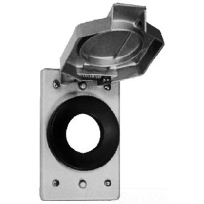 WLRS Cover, Spring Door, Type: Locking Blade Plugs, Metallic