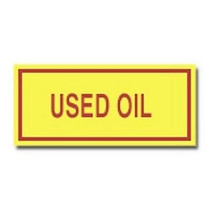 Label,B302,7x3,Rd/Yw,USED OIL,25/PK