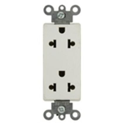 15A Duplex Receptacle, Decora, Ivory, 125/250V, Commercial, 5-15R