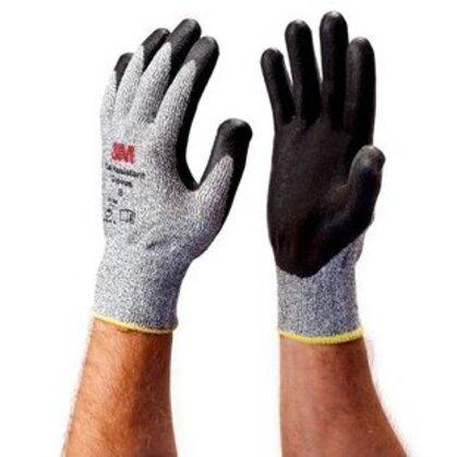 Comfort Grip Gloves, Winter, Large, Gray