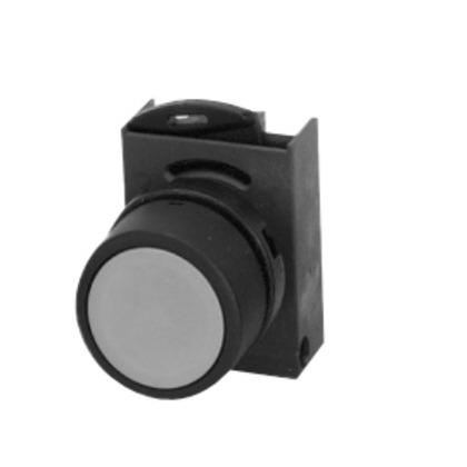 Push Button, 22.5mm, Yellow, Flush Head, Chrome, Operator Only