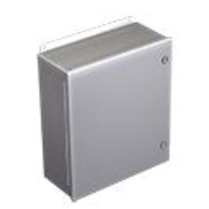 "Junction Box, NEMA 4, 1/4 Turn Latch, 4"" x 4"" x 3"""