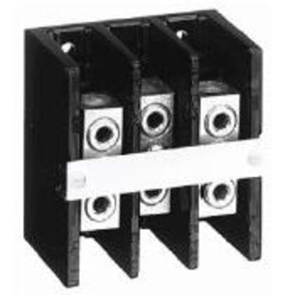 Power Distribution Block, 3P, 175A, 1 In/1 Out, #2/0 - #14AWG