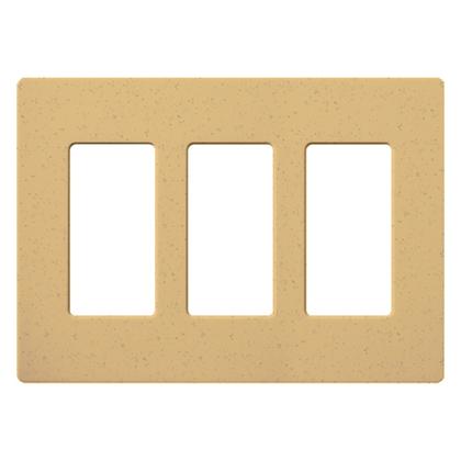 Dimmer/Fan Control Wallplate, 3-Gang, Goldstone