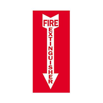 Sign,B302,5x14,Wt/Rd,FIRE EXTIN,1EA