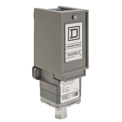Pressure Switch, Electromechanical, 10A, 120/240VAC, 250VDC, 475PSI