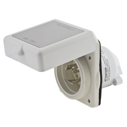 Power Inlet, Twist-Lock, 50A, 125/250V, Non-Metallic, 3P4W