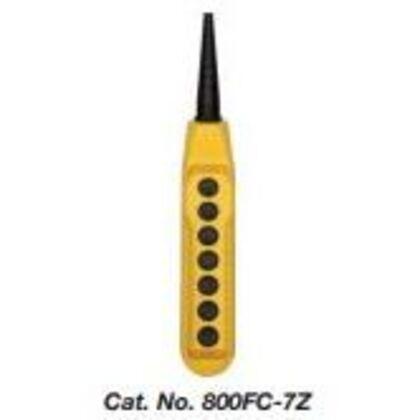 Pendant Station, 7-Hole, 22.5mm, Yellow Plastic, IP66