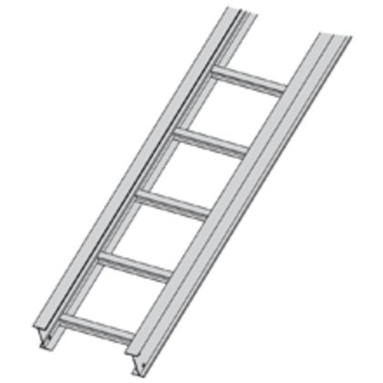 """Cable Tray, Ladder Type, Aluminum, 9"""" Rung Spacing, 12"""" Wide, 12' Long"""