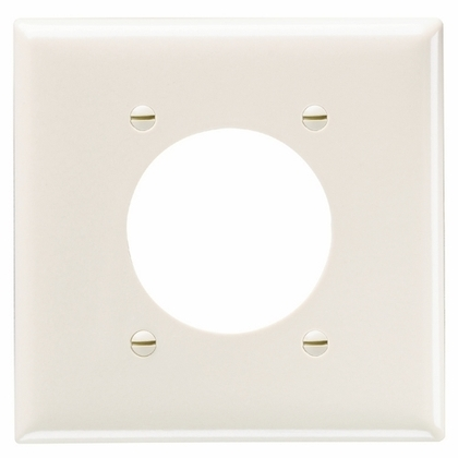 SMOOTH WALL PLATE 2G POWER OUTLET W