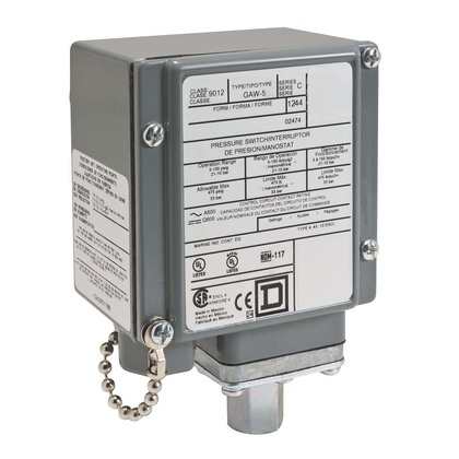 PRESSURE SWITCH 480VAC 10AMP G +OPTIONS