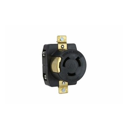 Locking Receptacle, Non-Nema, 50A, 250V, 2PW
