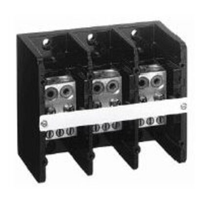 Distribution Block, 350A, 600V AC/DC, 3P, Aluminum, 2 In/6 Out