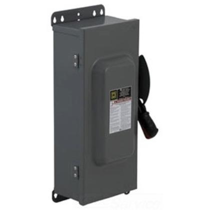 Disconnect Switch, Non-Fusible, NEMA 12/3R, 100A, 3P, 600VAC, HD