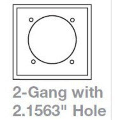 "Wlplt 2G Sgl Rec W/2.15""Hole Poly Mid WH"