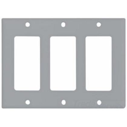Wallplate 3G Decorator Thermoset Std GY
