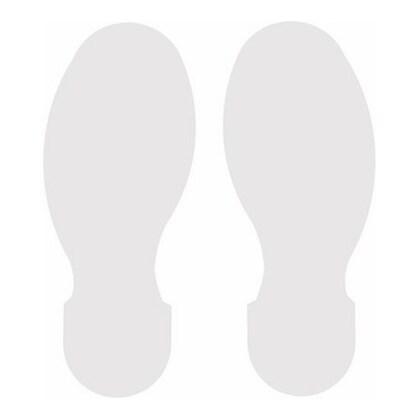 "Floor Marking Tape, 10"" x 3.5"" Foot Print , White"