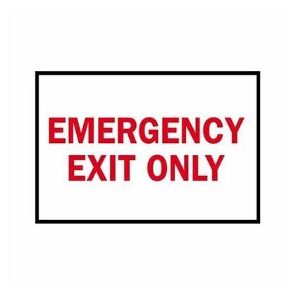 Sign,B120,Rd/Wt,14x10,EMERGENCY EXIT,1EA