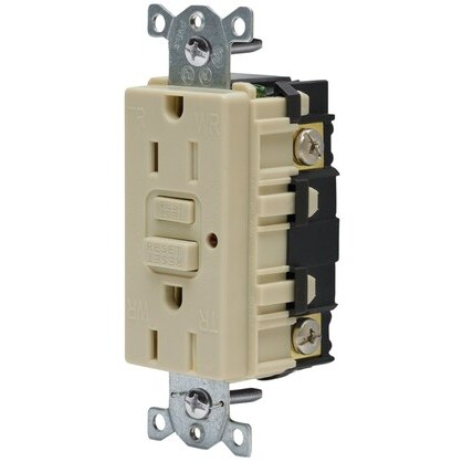 15A 125V, 5-15R, With LED, Ivory *** Discontinued ***