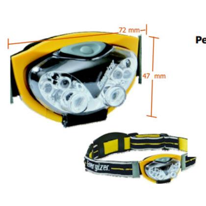 6-LED Headlight, 3AAA, Yellow *** Discontinued ***