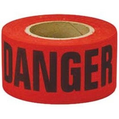 """DANGER"" Barricade Tape, 3"" x 1000', Red"