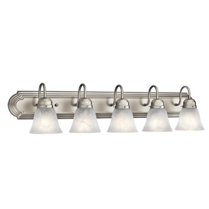 Bath Light, 5-Light, 100W, Brushed Nickel *** Discontinued ***