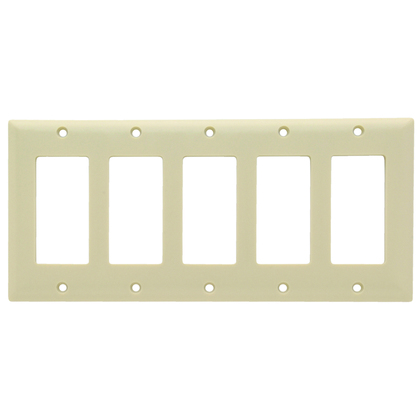SMOOTH WALL PLATE 5G SPLEX IVORY
