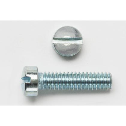 "Machine Screw, Fillister Head, Slotted, 1/4"" x 3/4"", Zinc Plated Steel"