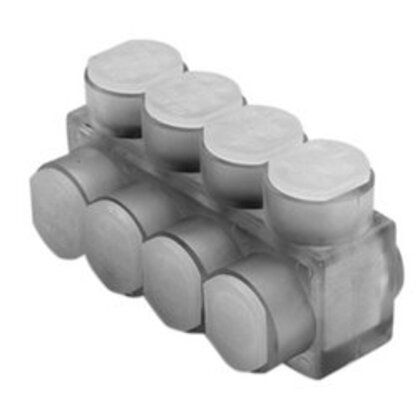 Multi-Tap Connector, Aluminum, Insulated, 10 AWG to 350 MCM