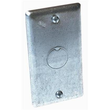 "Handy Box Cover, Type: Blank, Drawn, 1/2"" Knockout, Metallic"