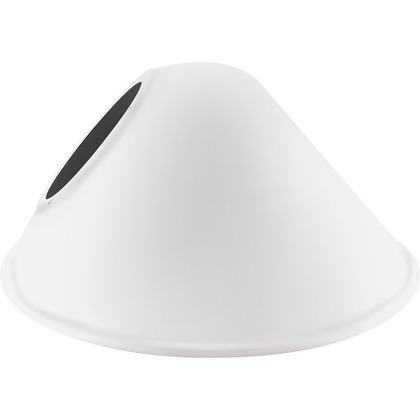 ANG. CONE SHADE FOR GNLED GOOSE WH