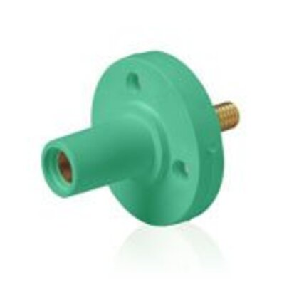 "Female Panel Receptacle, Cam Type, 140A Max, Type 3R, ""While In Use"" - Green *** Discontinued ***"